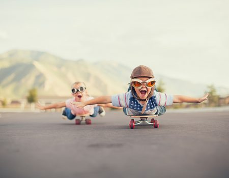 Kinder Skateboard klein